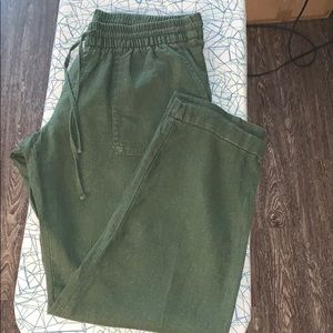 OLIVE GREEN SOFT DRAWSTRING PANTS OLD NAVY SIZE S